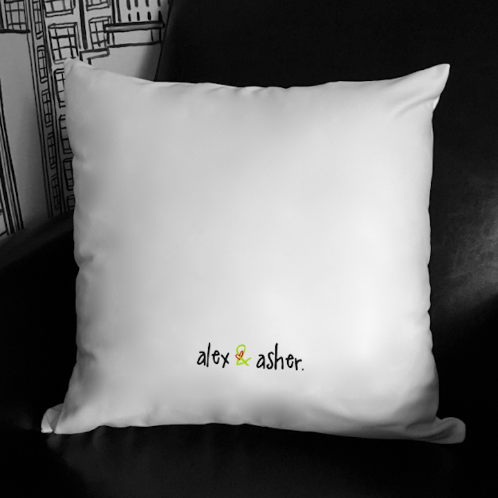 super fly. 18x18 pillow.
