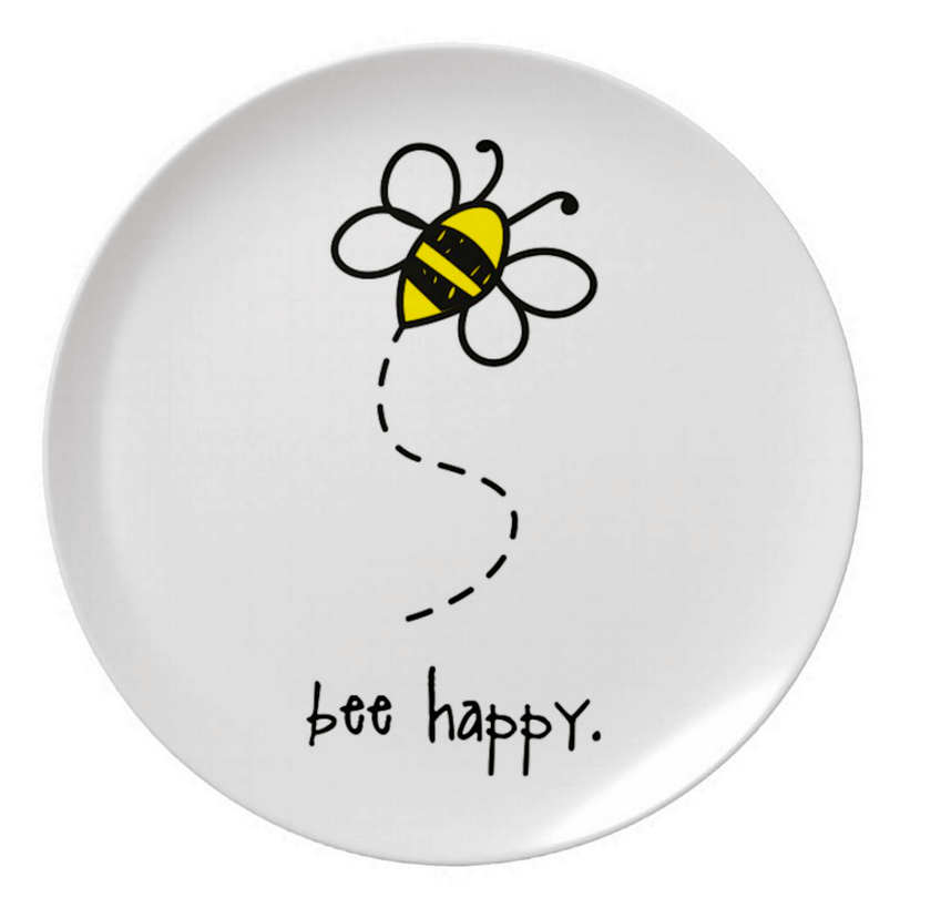 8  melamine plate.  sc 1 st  alex u0026 asher. & bee happy. 8