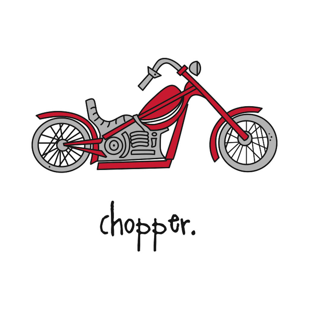 chopper. 18x18 pillow.