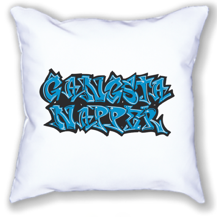 gangsta napper. 18x18 pillow.
