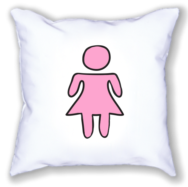 girl symbol. 18x18 pillow.