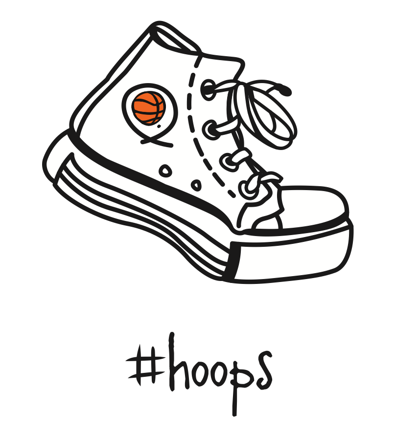 #hoops. 18x18 pillow.