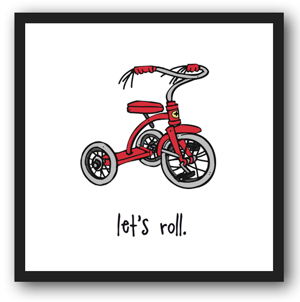 let's roll. 12x12 framed poster.