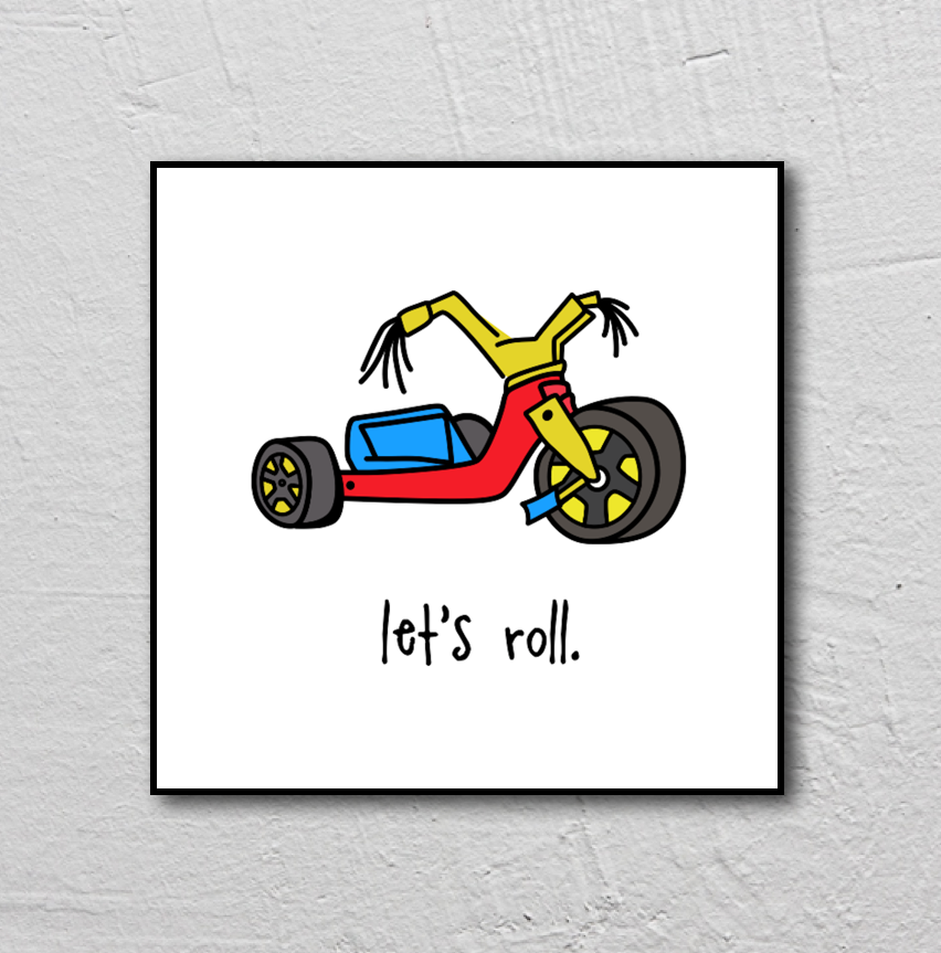 let's roll. 8x8 print.