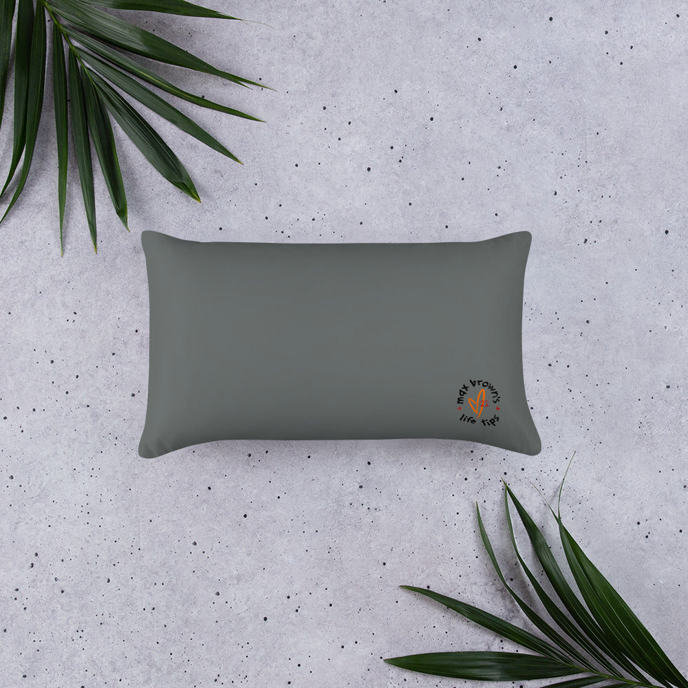 tip 40. gray throw pillow. 2 sizes.