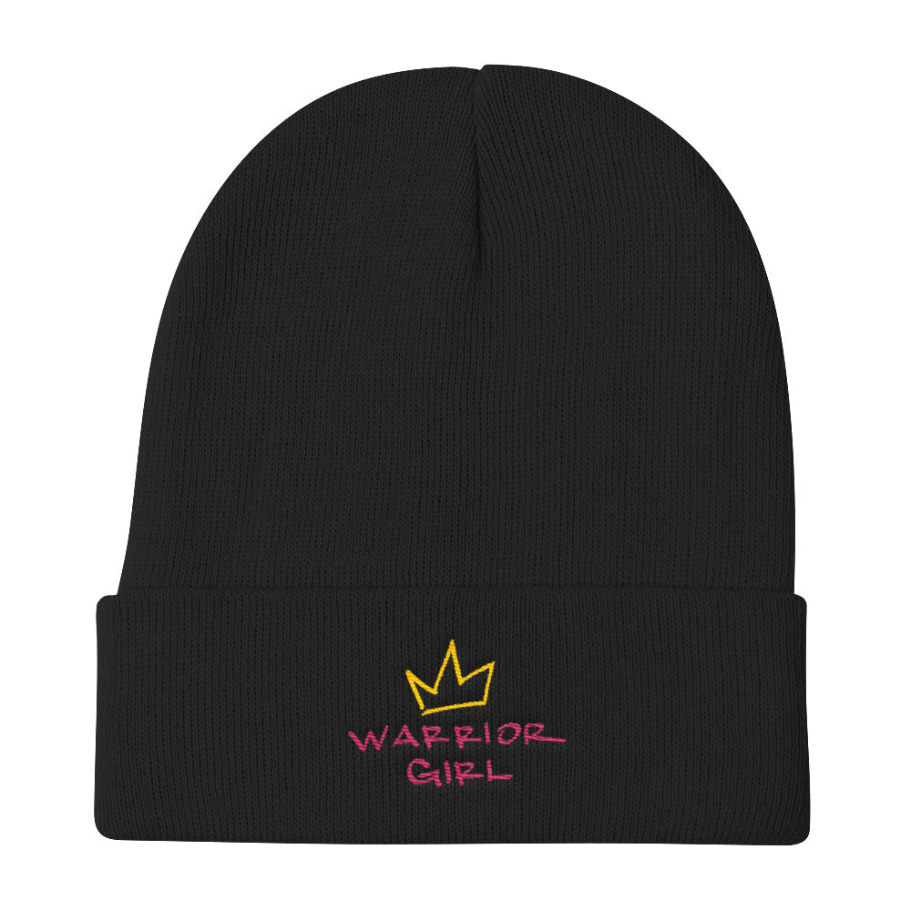 warrior girl knit beanie.