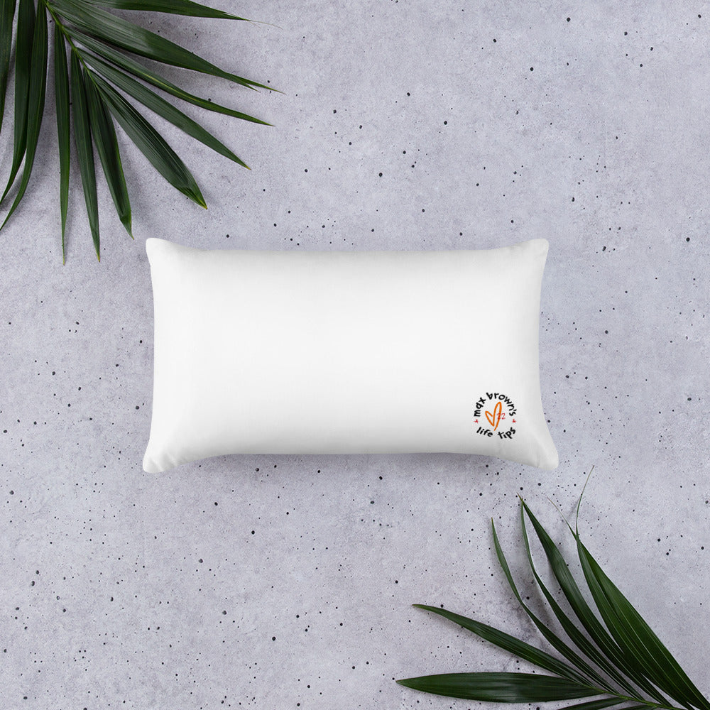 tip 18. white throw pillow. 2 sizes.