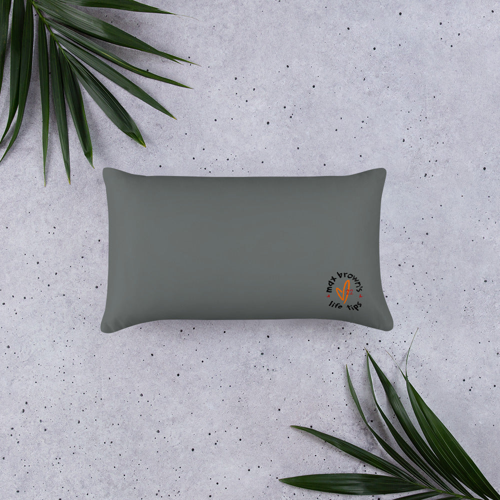tip 1. gray throw pillow. 2 sizes.