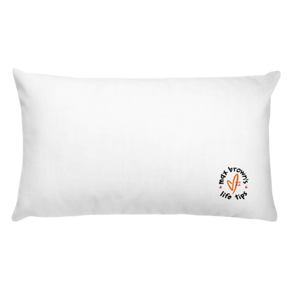 tip 13. white throw pillow. 2 sizes.