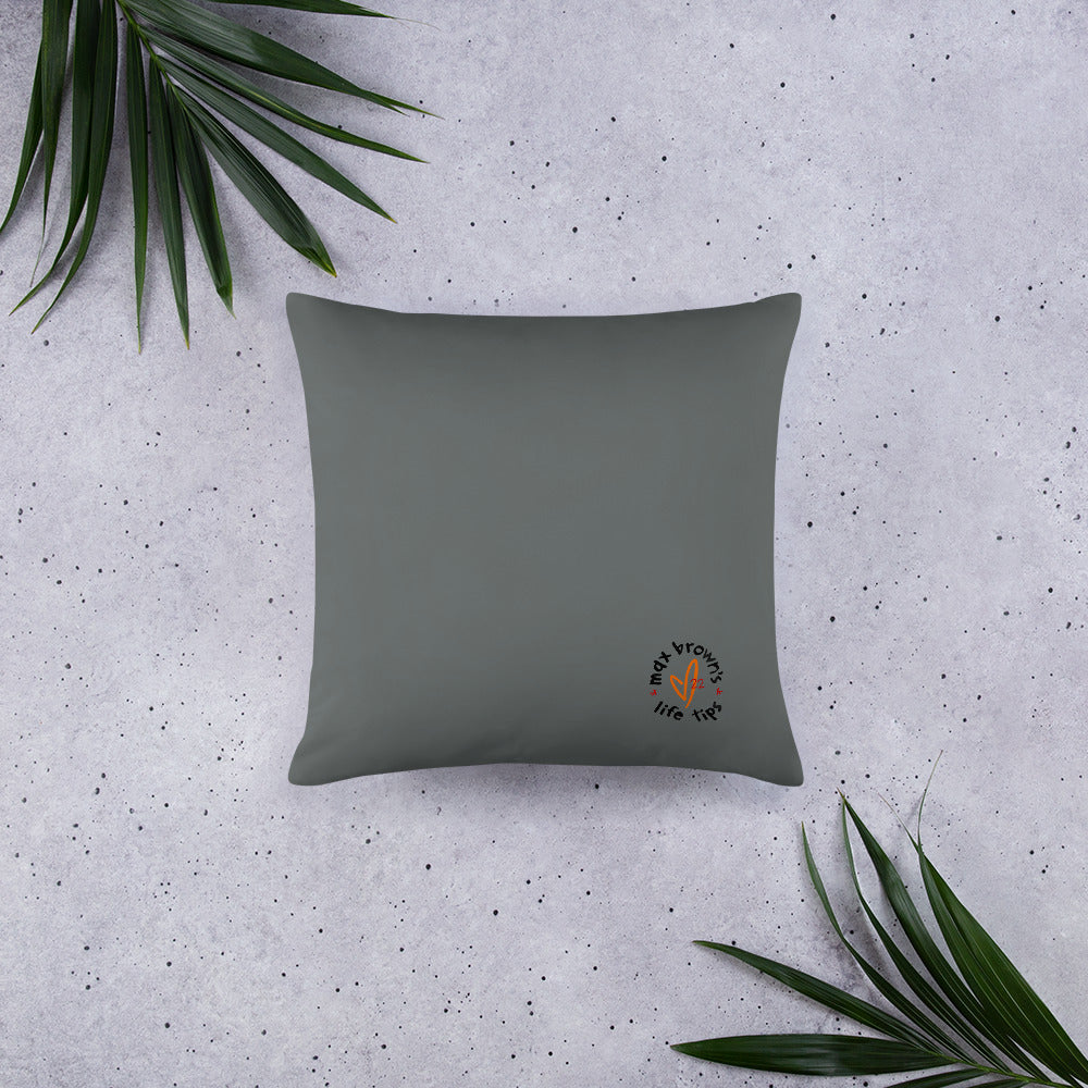 tip 13. gray throw pillow. 2 sizes.