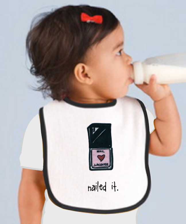nailed it. baby bib.