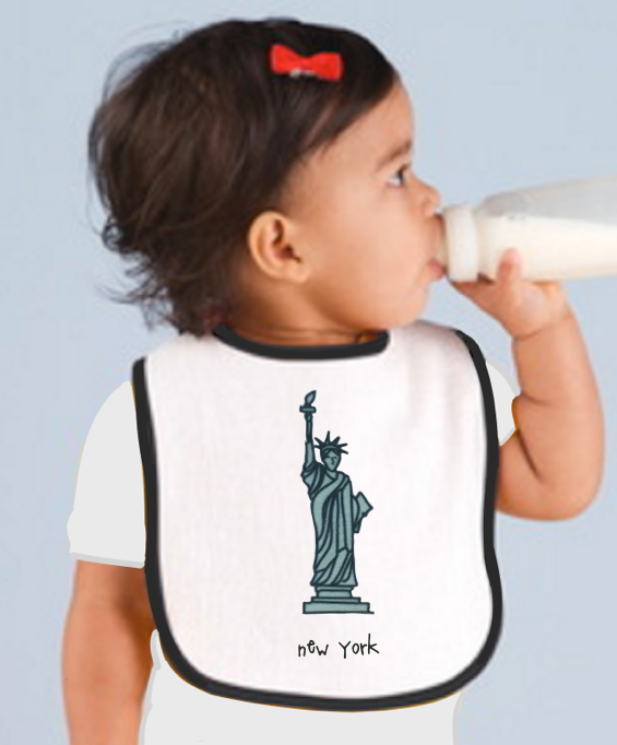 new york. baby bib.