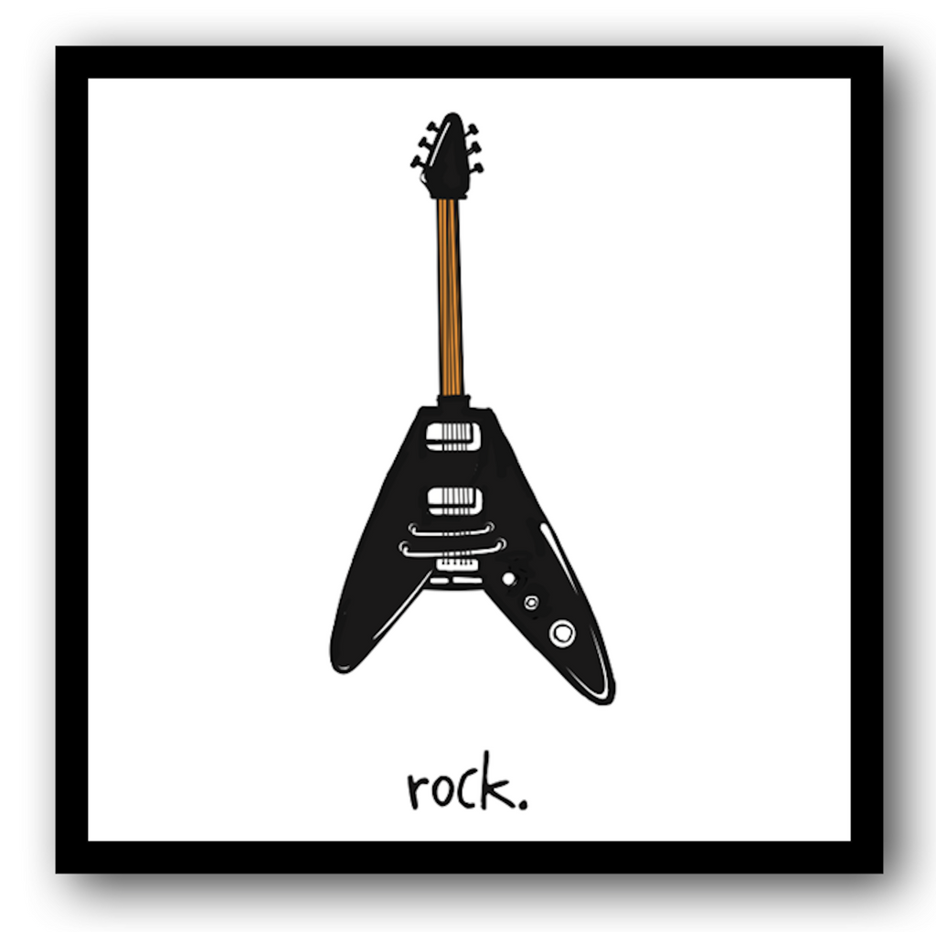 rock. 12x12 framed poster.