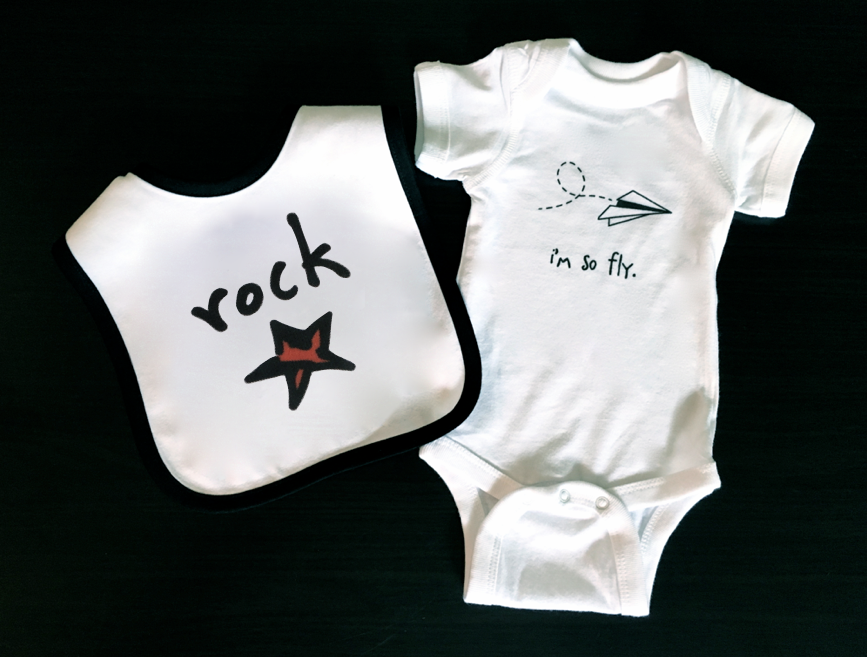 rock star. baby bib.