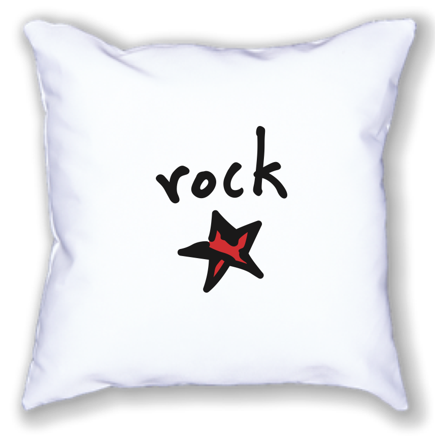 rock star. 18 x 18 pillow.