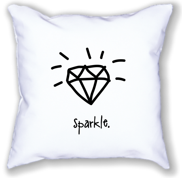 sparkle. 18 x 18 pillow.