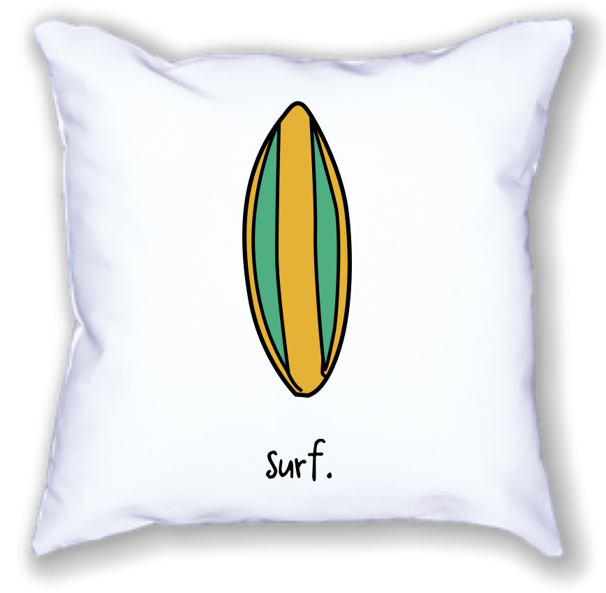 surf. 18x18 pillow.