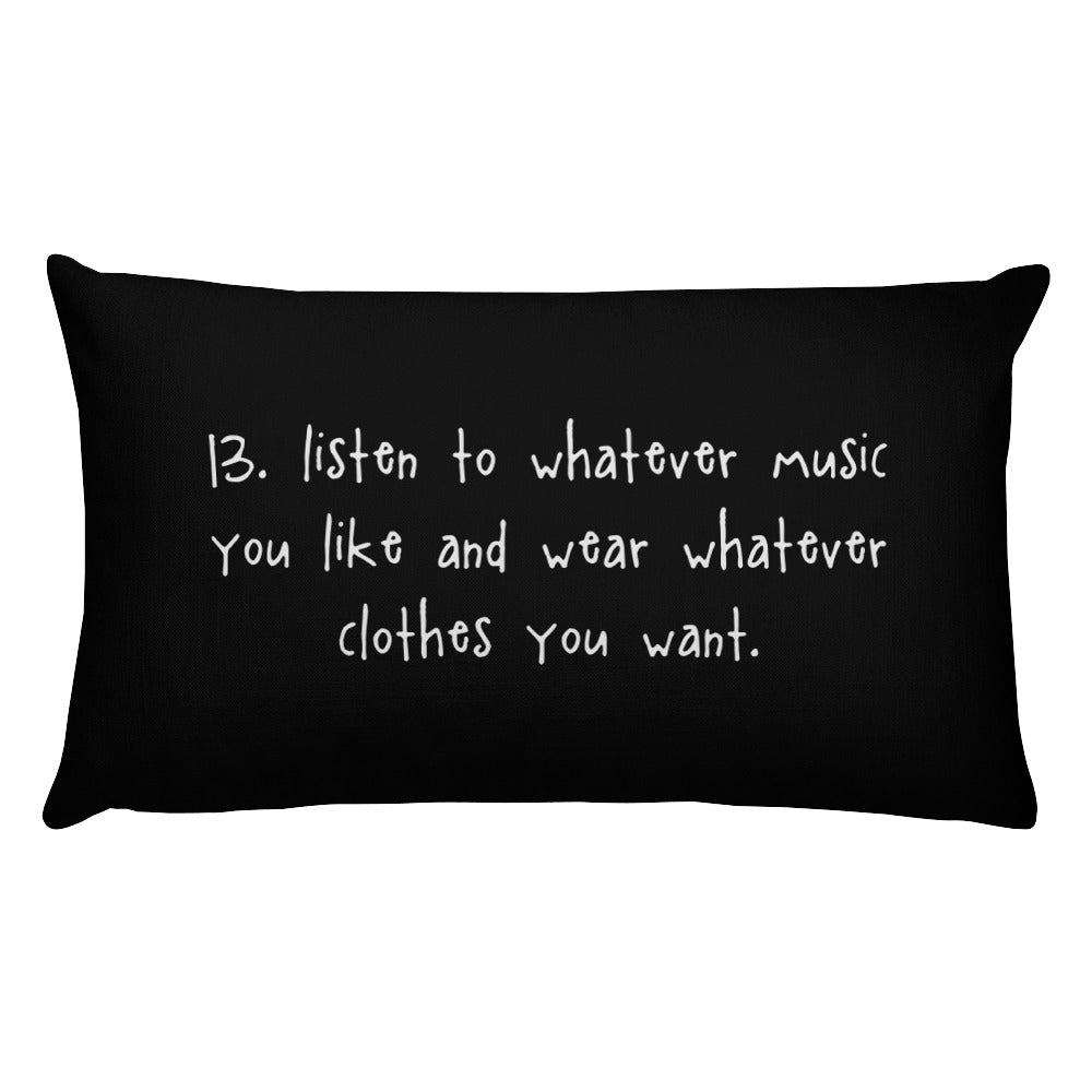 tip 13. black throw pillow. 2 sizes.