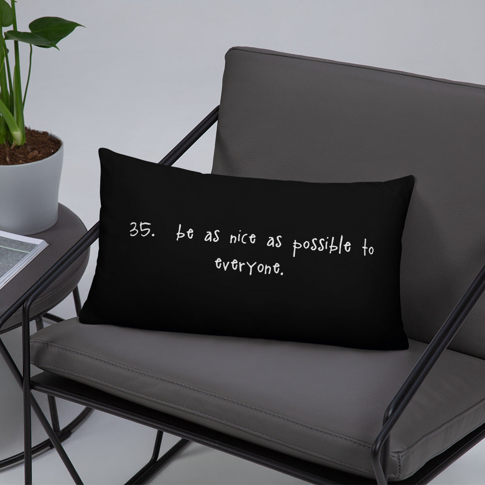 tip 35. black throw pillow. 2 sizes.