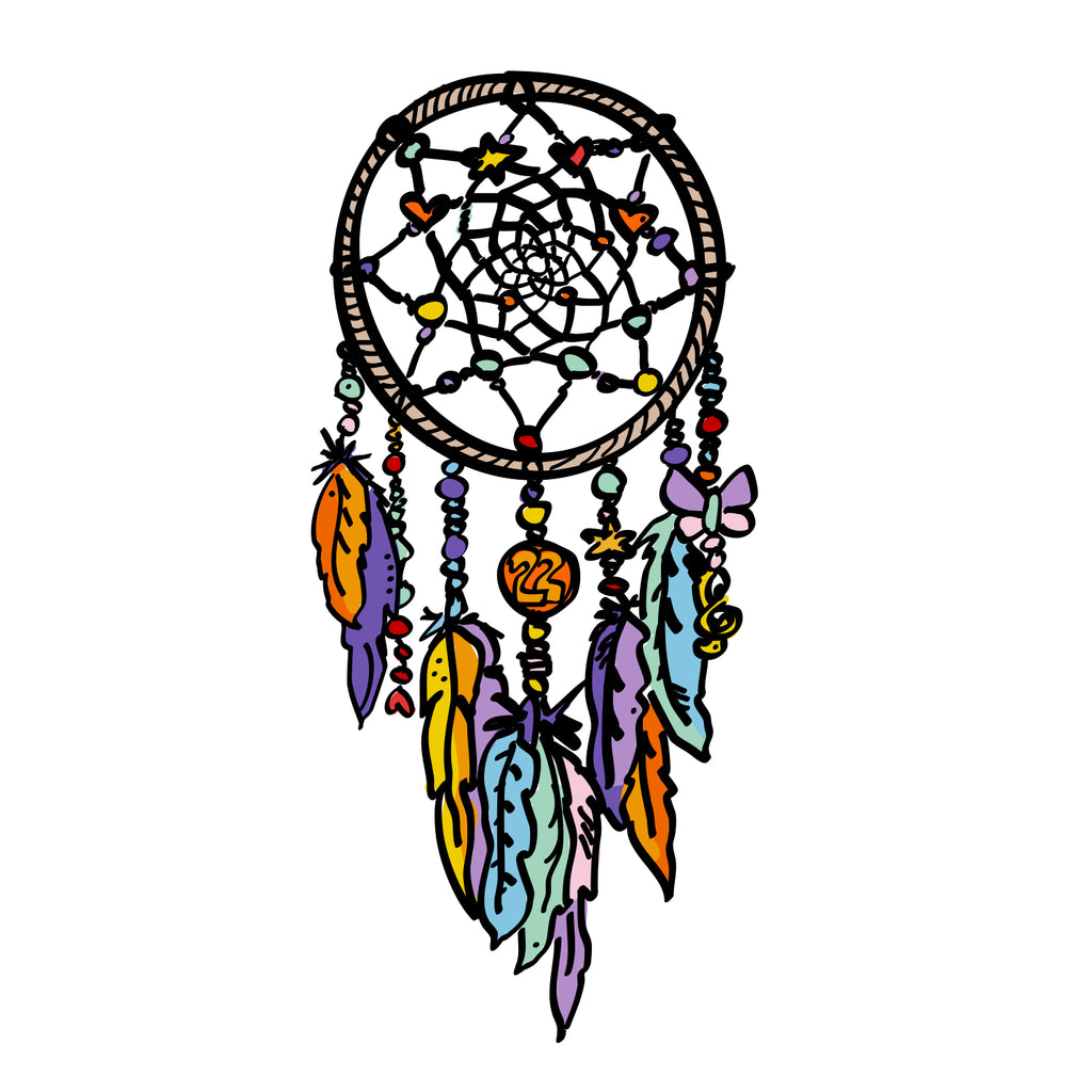 dream catcher print.