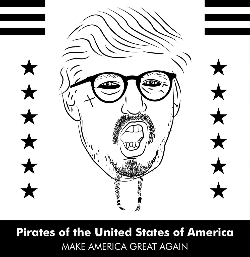 Donald trump versus johnny depp pirates of the united states of america