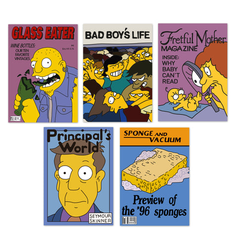 simpons notebook set 4 magazines