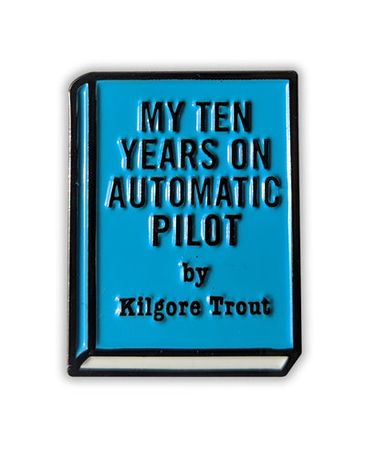 """My Ten Years On Automatic Pilot"" Enamel Pin - bestplayever"