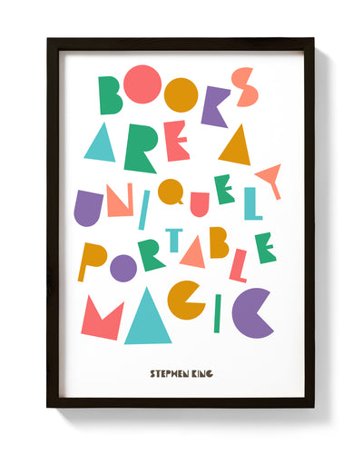 "Stephen King Quote Print ""Books are a uniquely portable magic."" - bestplayever"