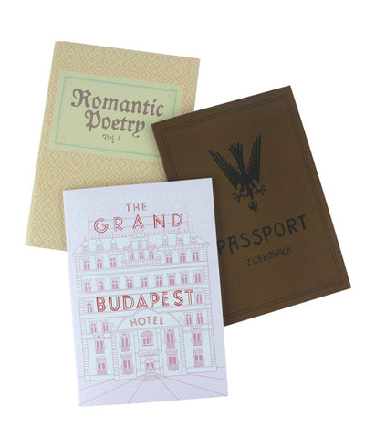 Grand Budapest Hotel Notebook Set - bestplayever