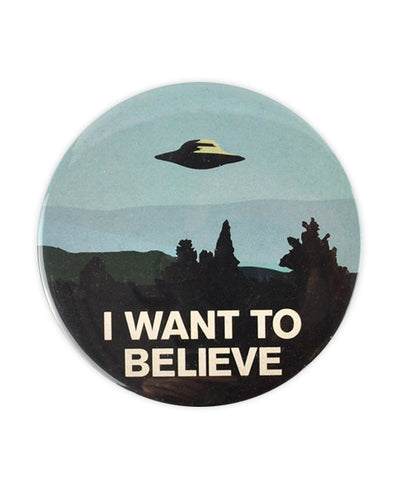 I Want To Believe Large Badge, The X-Files - bestplayever
