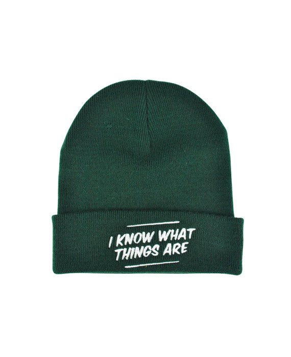 a39e0b36701 I Know What Things Are Beanie - bestplayever