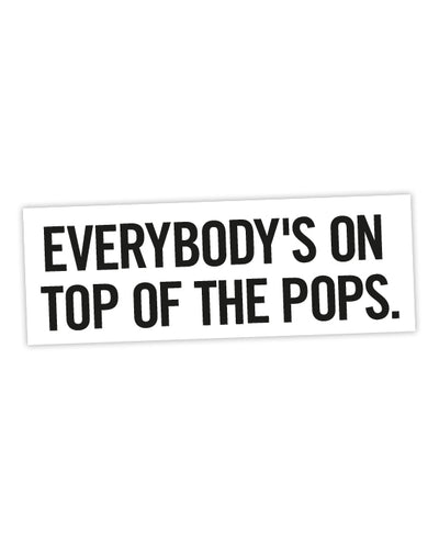 The Rezillos 'Top Of The Pops' Sticker - bestplayever