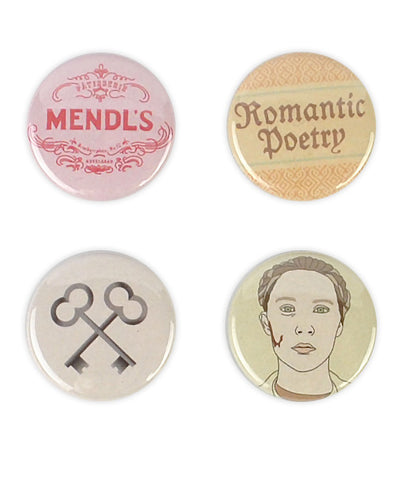Agatha Badges, Grand Budapest Hotel Badge Set - bestplayever