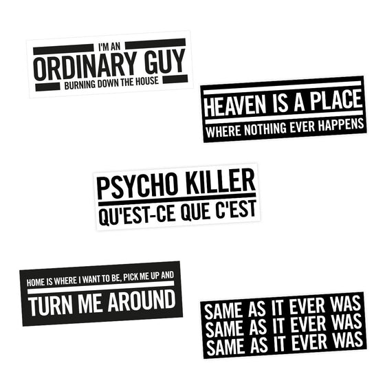 Talking Heads This Must Be The Place Lyric Sticker Bestplayever