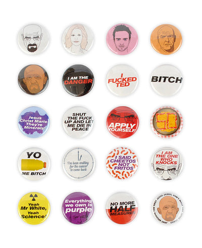 Complete Breaking Bad Badge Set - bestplayever