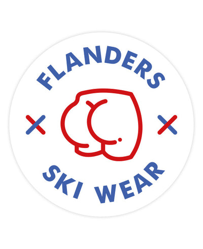 Flanders Ski Wear Sticker - bestplayever