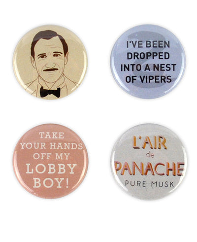 Monsieur Gustave H. Buttons, Grand Budapest Hotel Badge Set - bestplayever
