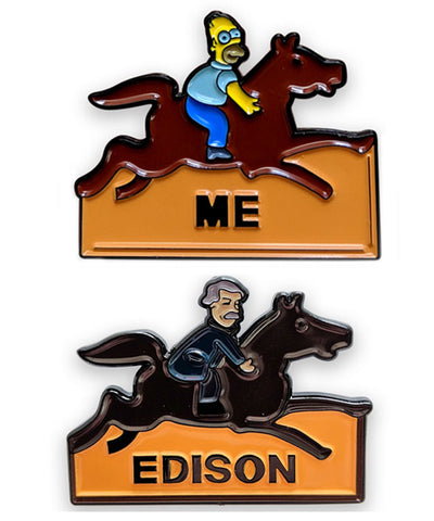 Homer vs Edison Inventor Pin Set - bestplayever