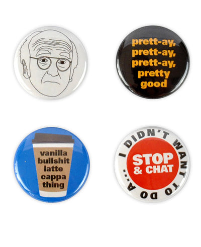 Larry David Badges - bestplayever