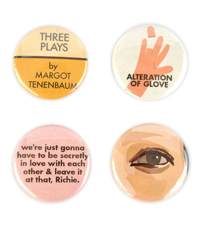 Margot Tenenbaum Badge Set - bestplayever