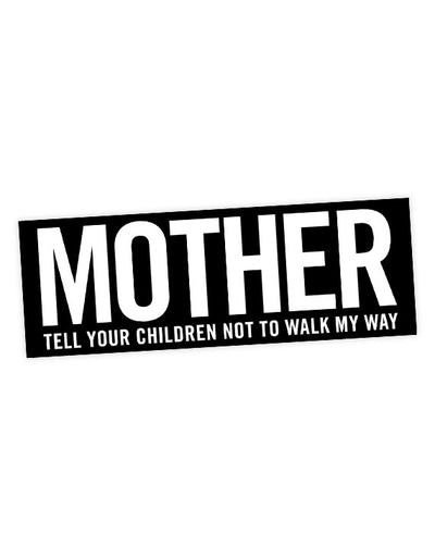 "Danzig ""Mother"" Lyric Bumper Sticker - bestplayever"