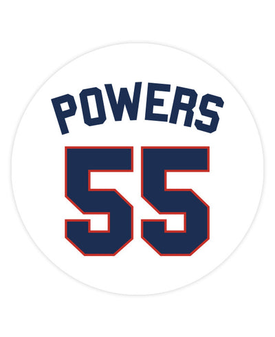 Kenny Powers 55 Shirt Number Sticker - bestplayever