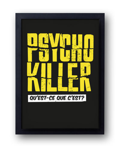 Psycho Killer Print, Talking Heads and Alfred Hitchcock Inspired - bestplayever