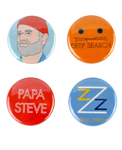 Steve Zissou Badges, The Life Aquatic - bestplayever