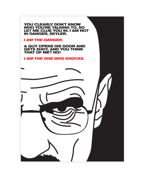 Walter White Quote Sticker I Am The Danger Bestplayever