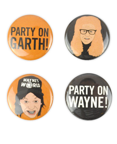 Wayne's World Badge Set - bestplayever