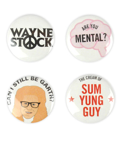 Wayne's World Badge Set 2 - bestplayever