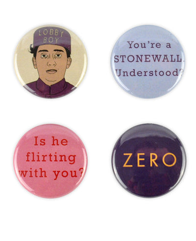 "Grand Budapest Hotel ""Zero"" Badge Set - bestplayever"