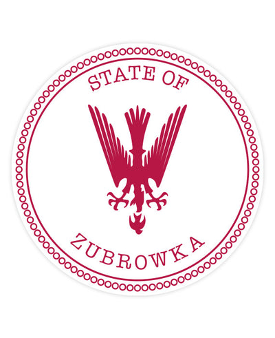 "The Grand Budapest Hotel ""State of Zubrowka"" Sticker - bestplayever"