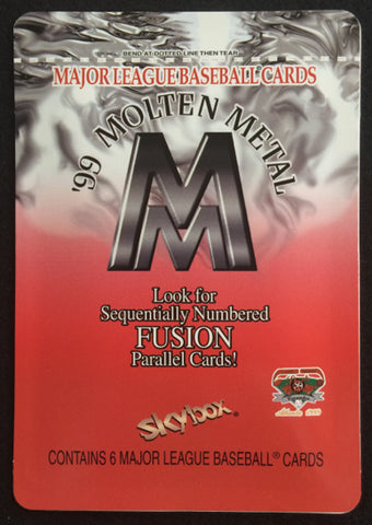 1999 Skybox Molten Metal pack NSCC exclusive pack